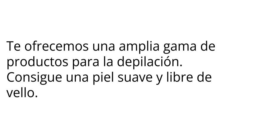 Productos para la depilación - Cuidado Corporal - SaforCosmetics
